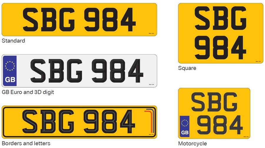 Replacement Number Plate Style