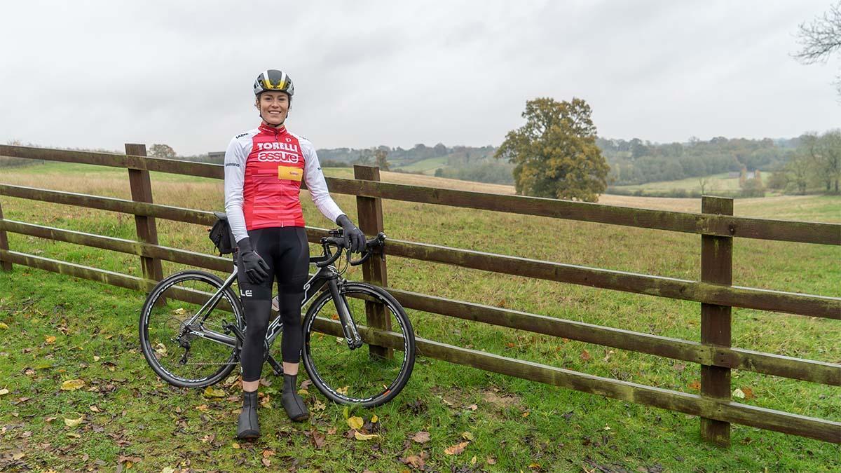 Amelia road racing cyclist