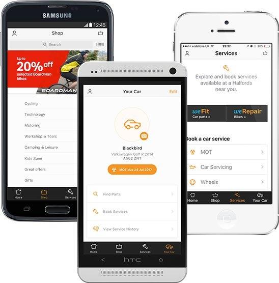 Halfords App Features