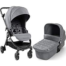 image of Baby Jogger City Tour Lux Slate Travel System Bundle