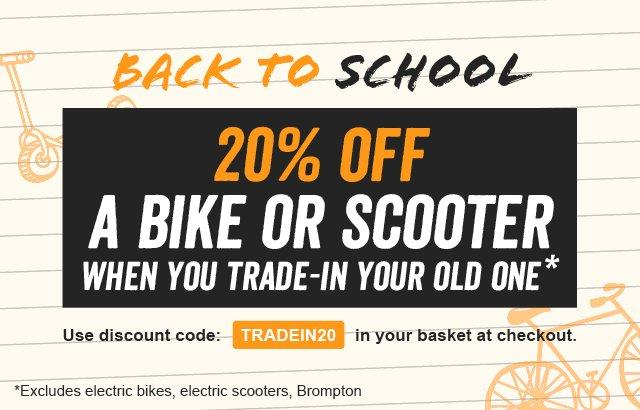 20% off bike or scooter