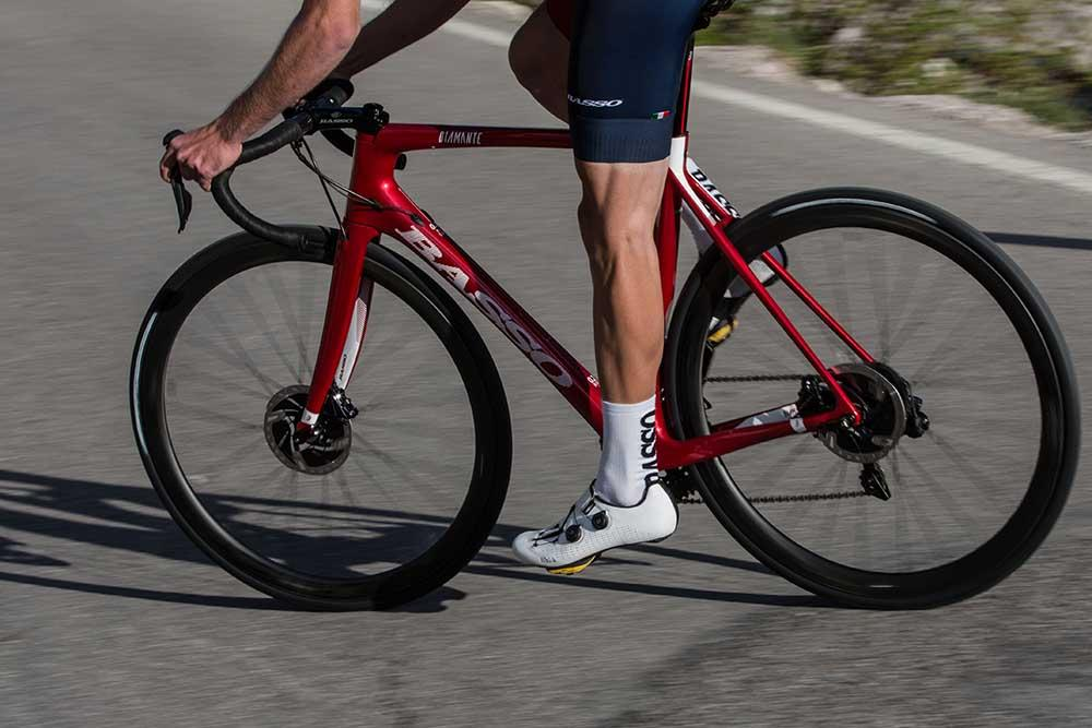 Basso road bike with disc brakes