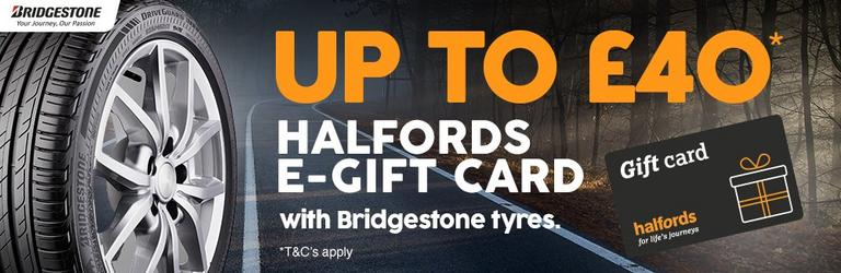 Image for Bridgestone halfords gift card article