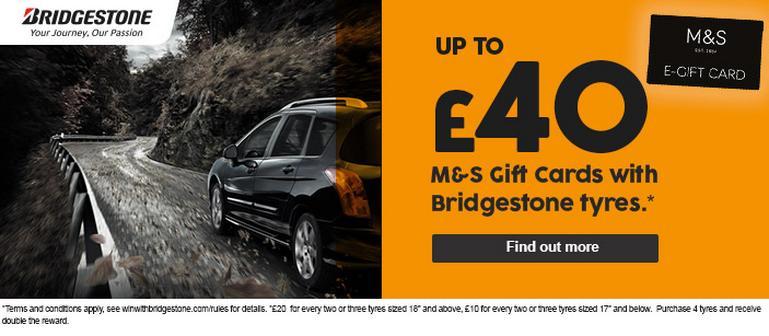 Image for Bridgestone M&S Gift Cards article