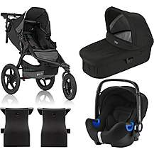 image of Britax Romer BABY-SAFE i-SIZE Car Seat with BOB REVOLUTION PRO Pushchair Travel System Bundle - Black