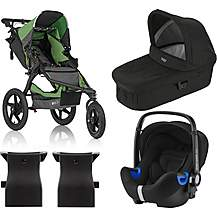 image of Britax Romer BABY-SAFE i-SIZE Car Seat with BOB REVOLUTION PRO Travel System Bundle - Wilderness