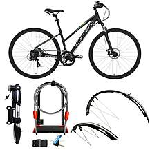 image of Carrera Crossfire 2, Mudguards, Action Pump, D-lock Extender Bundle