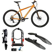 image of Carrera Vengeance, Mudguards, Action Pump & D-lock Extender Bundle