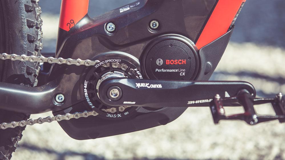 A Bosch e-MTB motor