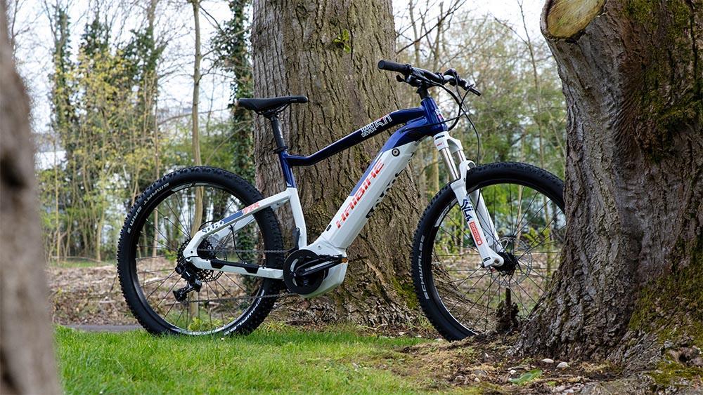 A Haibike hardtail electric mountain bike
