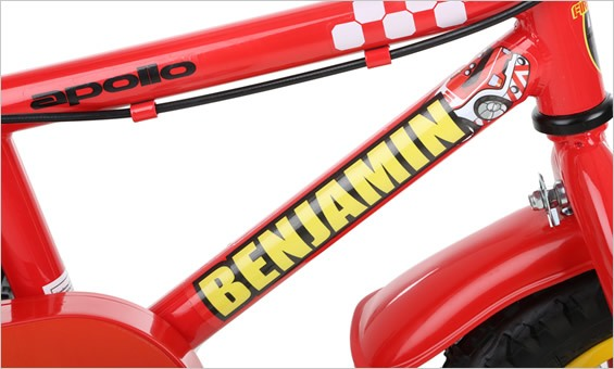 Want to make your childs bike extra special by adding their name