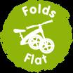 fold flat badge