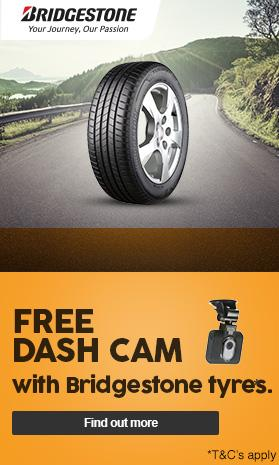 Free Dashcam with Bridgestone tyres