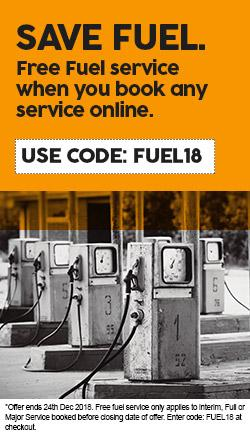 Free Fuel Service when you book any service online