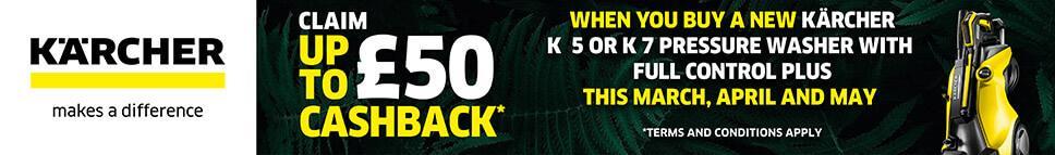 Karcher, Claim up to £50 Cashback