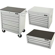 image of Halfords Tool Chest and Cabinet Bundle - Silver