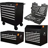Halfords Advanced Tool Chest and Cabinet Bundle + Free Halfords 90 Piece Socket Set