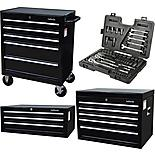 Halfords Tool Chest and Cabinet Bundle + Free Halfords 90 Piece Socket Set