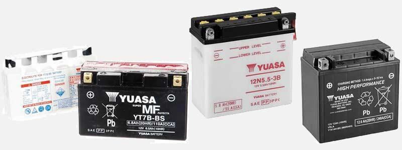 The Yuasa Motorcycle Battery Range