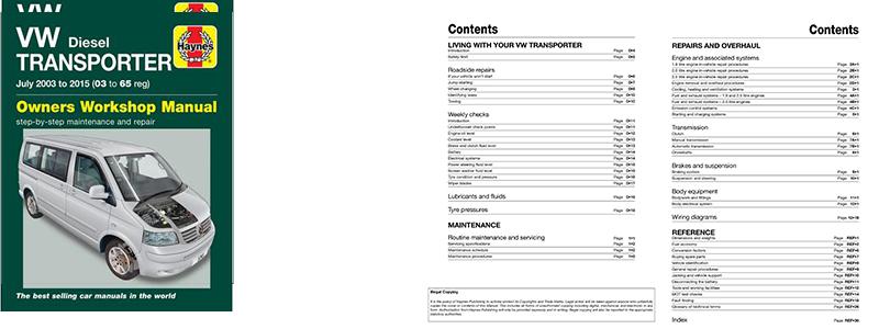 Haynes Manual: VW T5