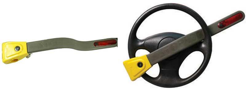 STOPLOCK Pulsar with Flashing Light Steering Wheel Lock