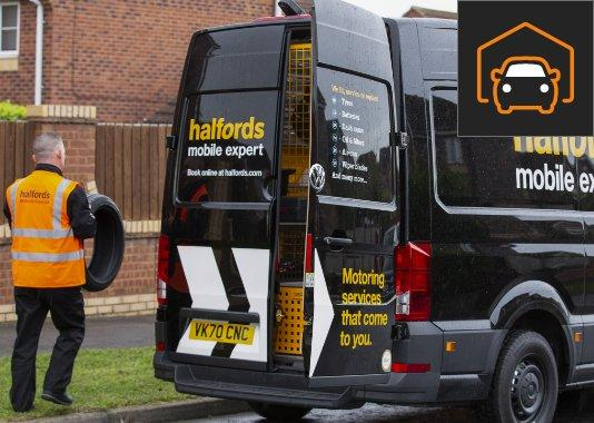 We'll come to you with Halfords Mobile Expert
