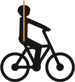 Upright position for leisure bikes