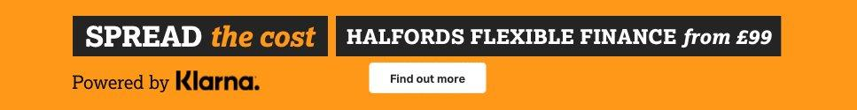 Spread the cost with Halfords Finance powered by Klarna