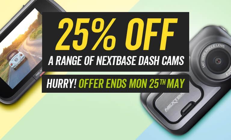 25% off a range of Nextbase Dash Cams - Hurry