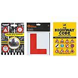 AA Highway Code, Halfords Learner Driver Plates & Blind Spot Car Mirror Bundle