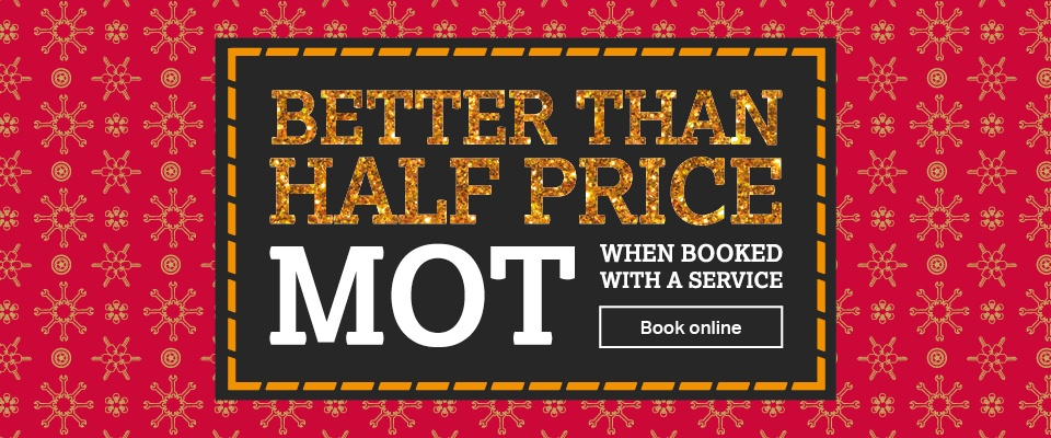 Better than half price MOT - when bought with a service