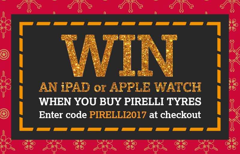 Win an iPad or Apple Watch with Pirelli Tyres