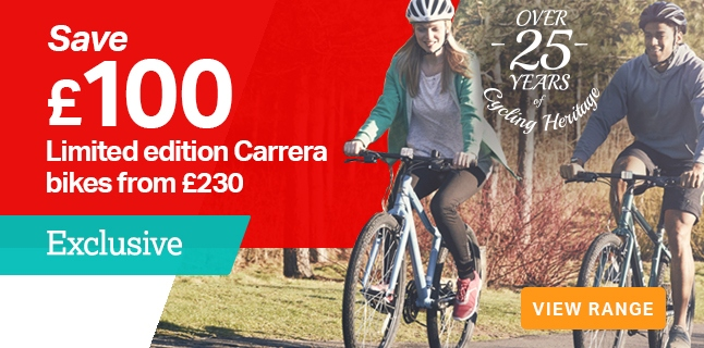 Save £100 Ltd Edition Carrera bikes