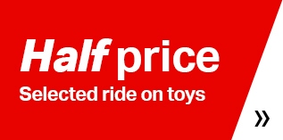 Half price ride on toys
