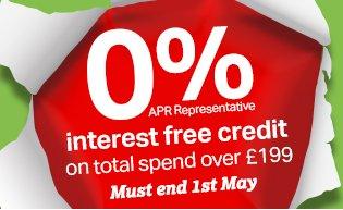 0% Interest Free Credit
