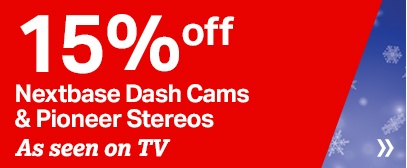 15% off all Nextbase Dash Cams & Pioneer Stereos