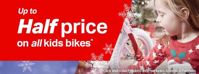 Half price kids bikes