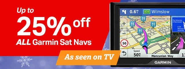 Up to 25% off all Garmin