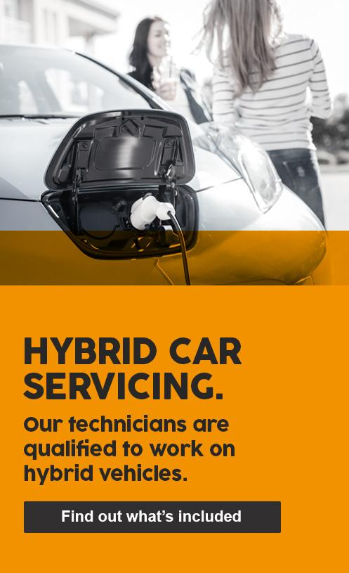 HYBRID CAR SERVICING - Our technicians are qualified to work on hybrid vehicles.