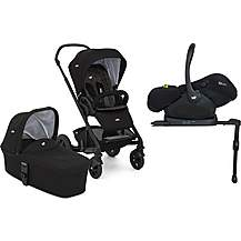 image of Joie Chrome DLX Stroller with Carrycot and i-Level Travel System Bundle