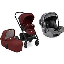 image of Joie i-Gemm and Chrome DLX Stroller with Carrycot Travel System Bundle - Cranberry
