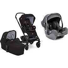 image of Joie Chrome DLX Stroller with Carrycot, and i-Gemm Travel System Bundle