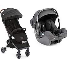 image of Joie i-Gemm Group 0 Infant Car Seat and Pact Flex Signature Travel System Bundle - Noir