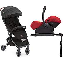 image of Joie Noir Pact Flex with i-Level Travel System Bundle Noir