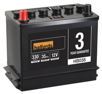 Halfords Lead Acid Battery HB038