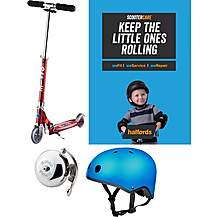 image of Micro Sprite Red Stripe Kids Scooter Bundle