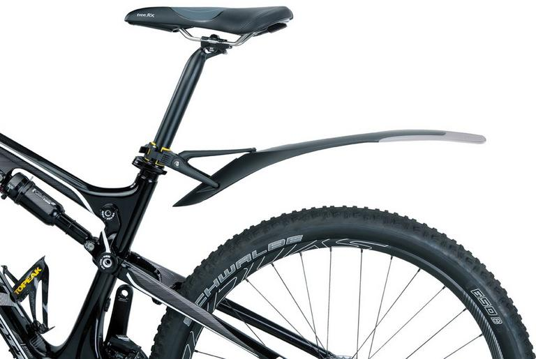 mudguard attached to a bike