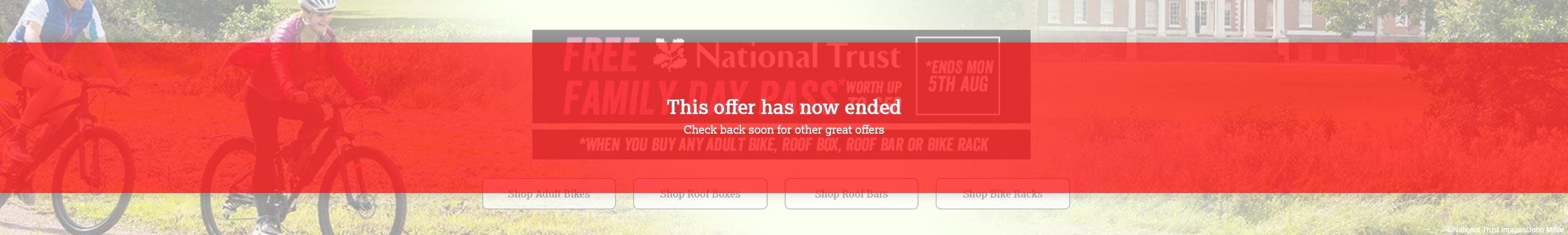 Our National Trust promotion has now ended. Check back soon for other great offers