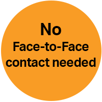No face to face contact