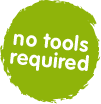 trunki no tools required badge